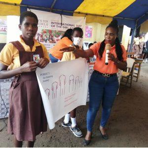 2021 Int'l Day of the Girl Child:DFG sensitizes Odukponkpehe basic school girls on menstrual hygiene